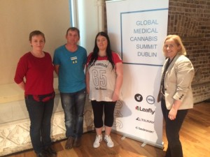 At the first Global Medical Cannabis Summit held in Dublin in September. Pictured with Vera Twomey Medical Cannabis campaigner on behalf of her daughter who has Dravet Syndrome and Deputy Gino Kenny who successfully brought a bill before the Dail recently to ensure that Medical Cannabis will be made available as a prescribed medication .